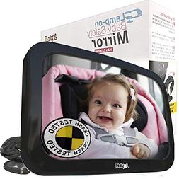 SAFEST   Clamps on, NO WEAK Straps!   Back Seat Baby Car Mir