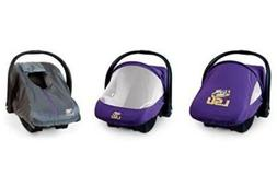 NCAA LSU Tigers Infant Car Seat Carrier Cover Combo Pack Sun
