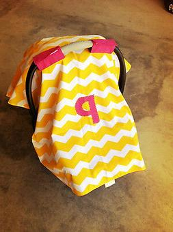Personalized! CHEVRON CARSEAT CANOPY. Choose from 4 Chevron
