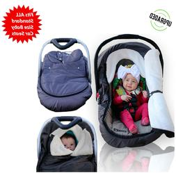 Winter Baby Car Seat Cover Infant Cozy Cold Canopy for Boys